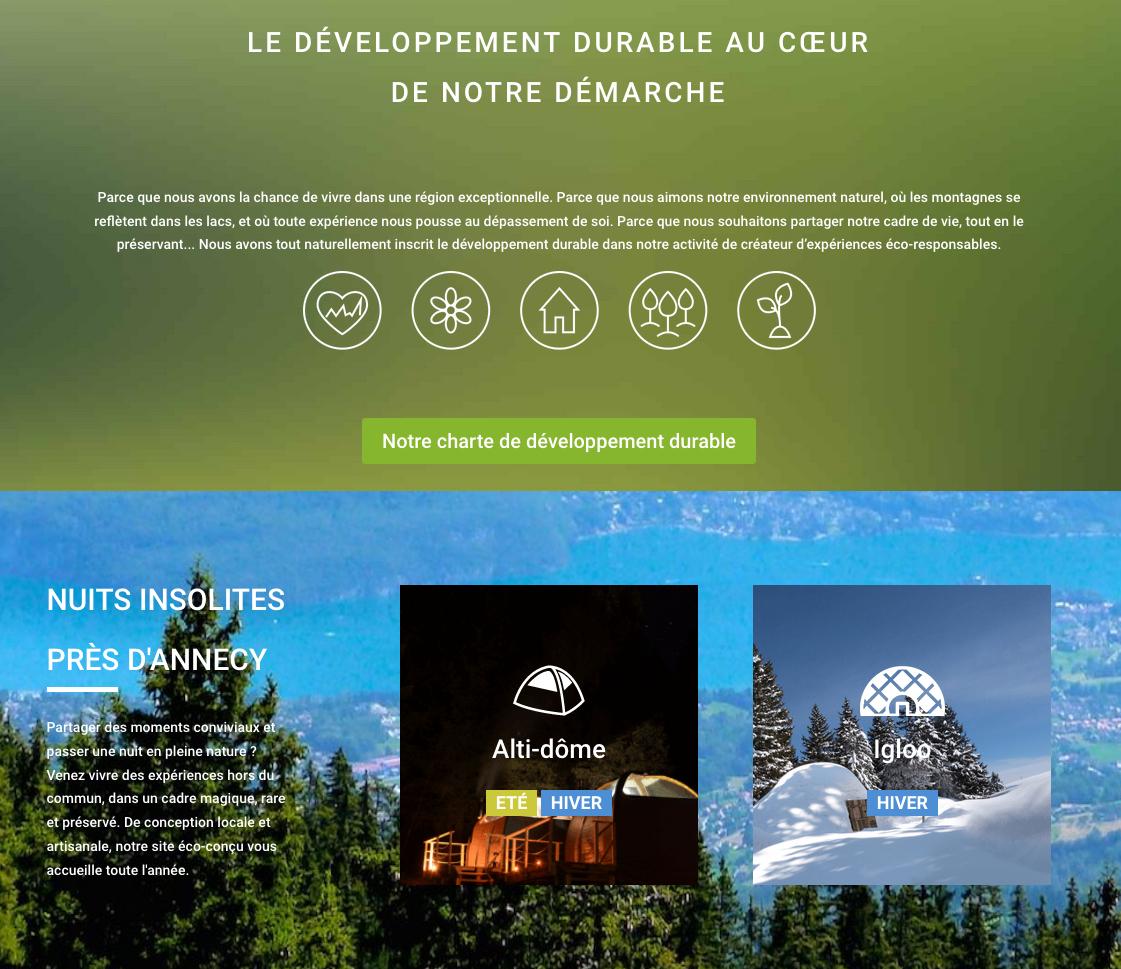 Développement durable Alpes Bivouac