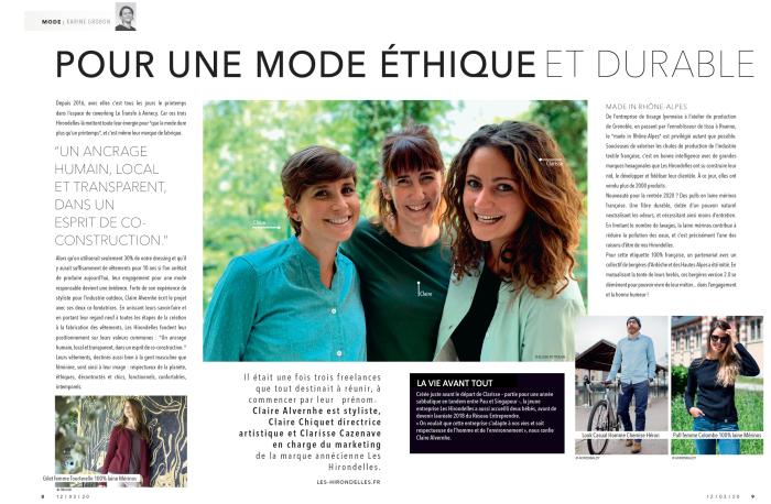 double page Les Hirondelles