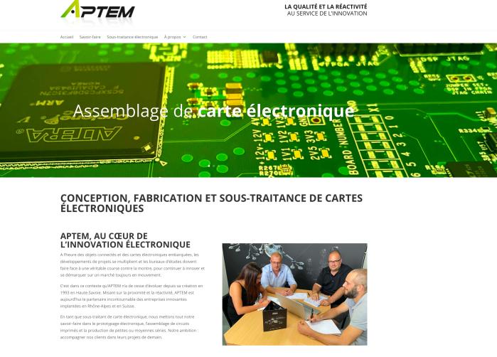 Rédaction SEO site APTEM